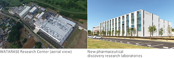 WATARASE Research Center and New pharmaceutical discovery research laboratories